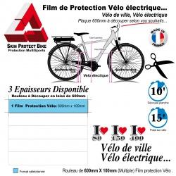 Film de Protection cadre Vélo Ville et Vélo électrique en Bande