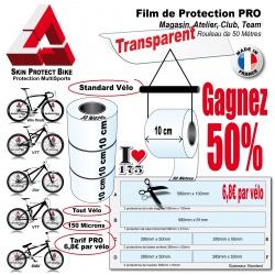 Film de Protection PRO Cycle Rouleau 10cm Vélo et Bike