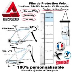 Film de Protection Vélo unitaire 5cm de large économique Bande
