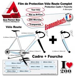 Film de Protection Vélo Route + Fourche économique Mat et Brillant