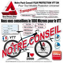 Plaque Film de Protection VTT DH Universel 1000 Microns