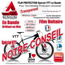 Film Protection cadre VTT Universel 300 Microns en Bande Découpé