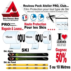Rouleau Film Protection PRO Ski 300 Microns Pack Atelier