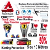 Film Protection Karting PRO 300 Microns Pack Team course