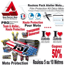 Rouleau Film Protection Kit Déco Moto Cross PRO Pack Team course
