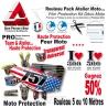 Film Protection Moto Kit Déco PRO Pack Team course