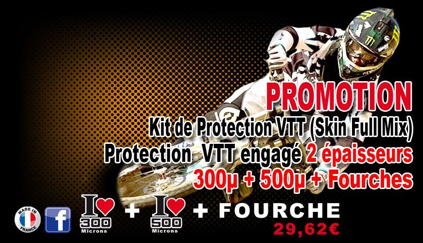 PROMOTION Kit Film Protection cadre VTT Complet 2 épaisseurs